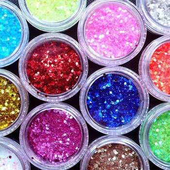 30gram Iridescent Hexagon Glitter in 1mm | Holographic Confetti | Nail Art Sprinkles | Decoden Cabochon DIY | Glitter Roots