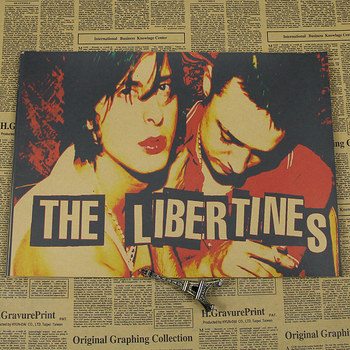 , Libertines Libertines retro kraft kağıt afiş bar yurt